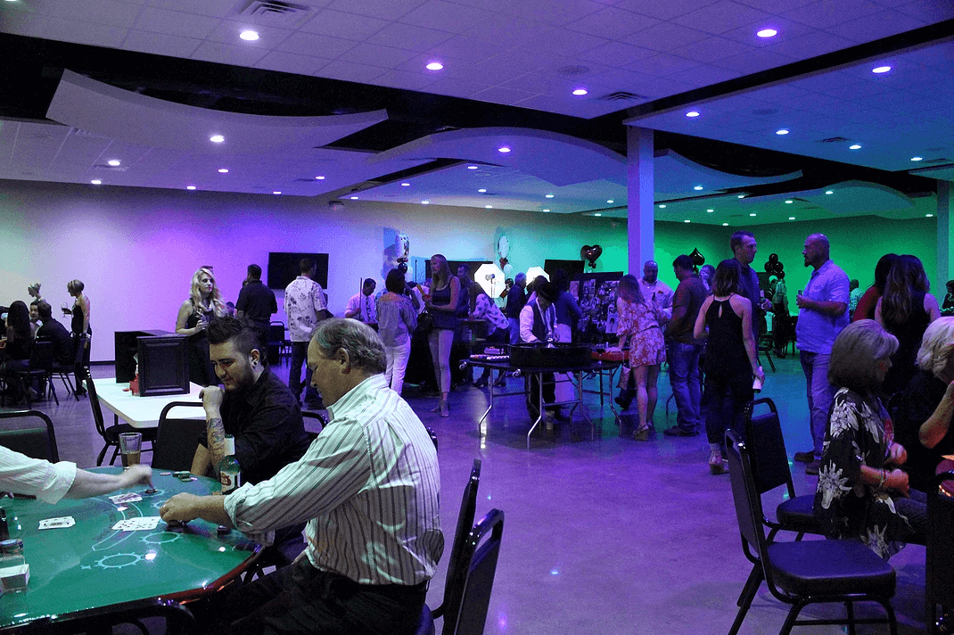 attendees at casino night event