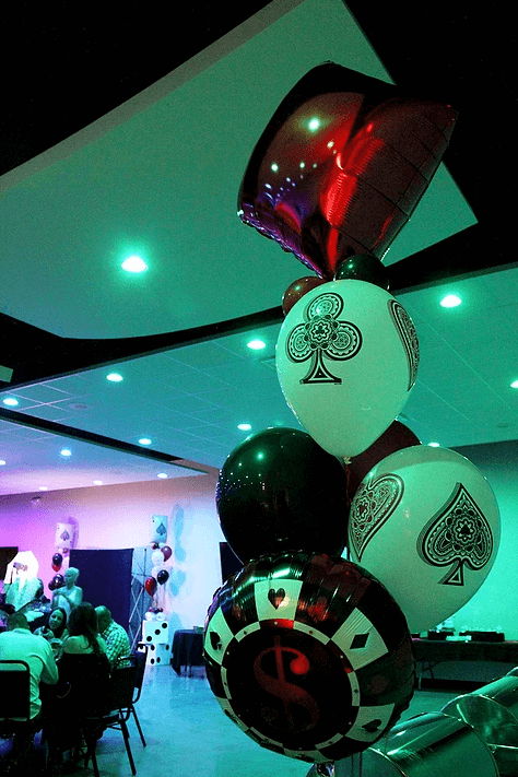 casino themed balloons