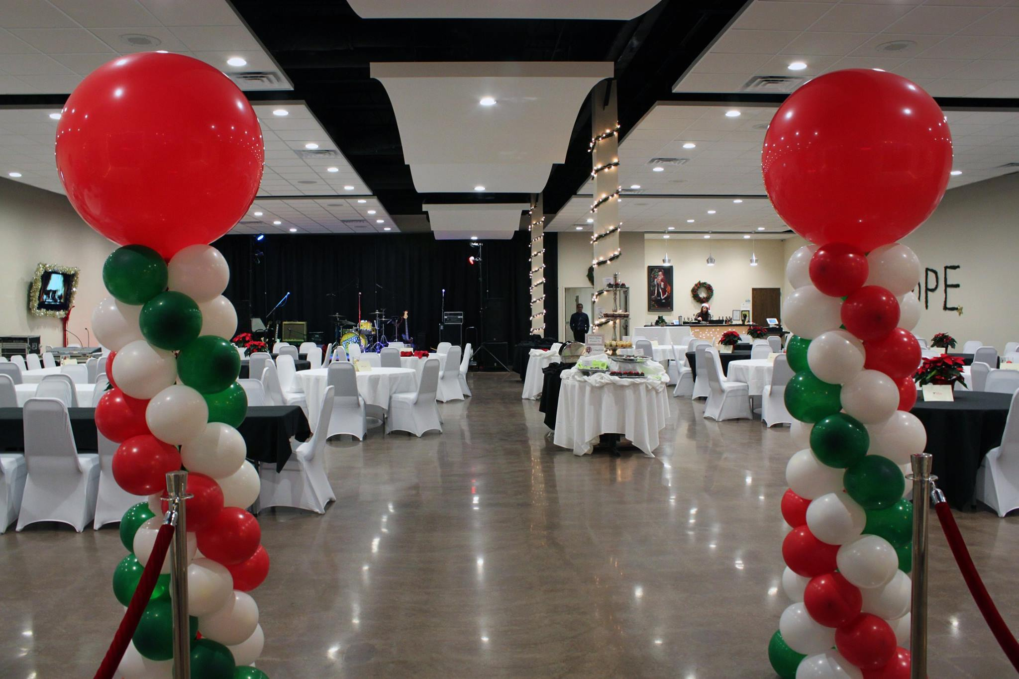 toys for tots event set up
