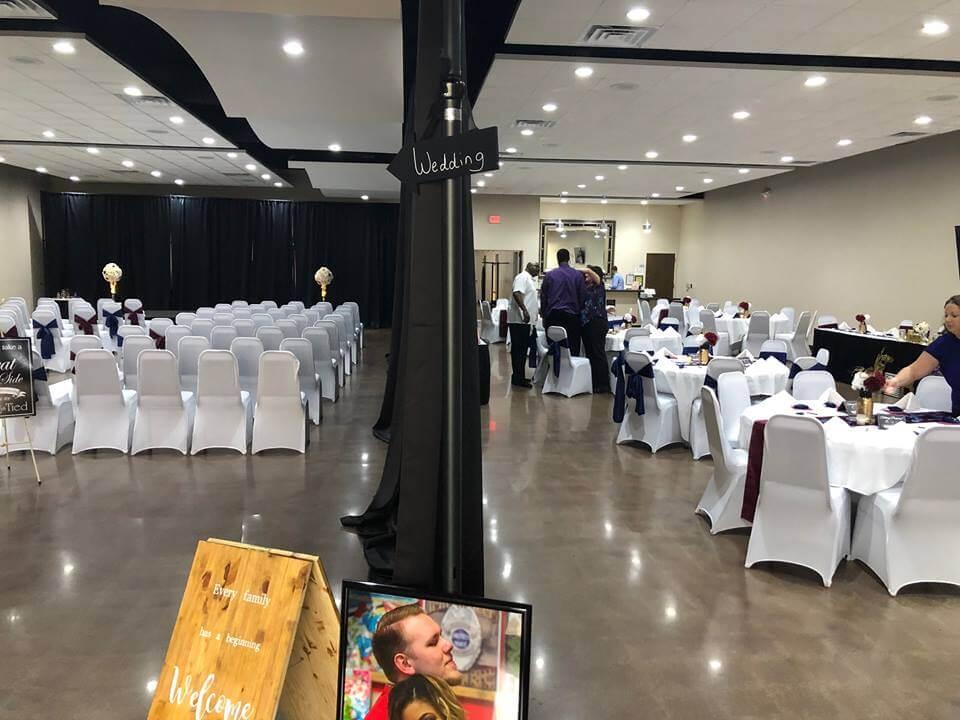 split wedding and reception at lavela