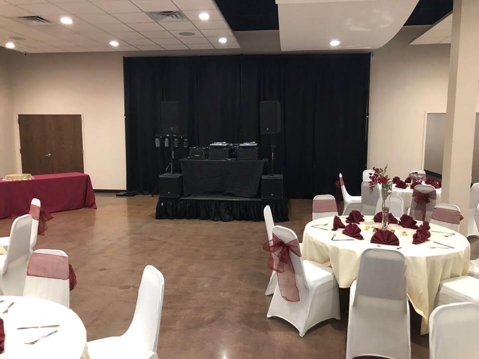 stage set up at wedding