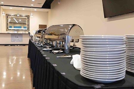 dishes and food setup at lavela