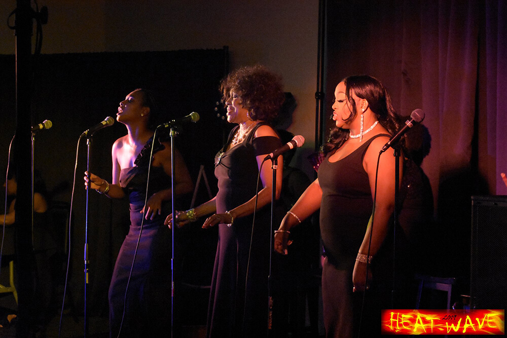 singers at heatwave event